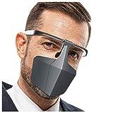 Anti-Fog Anti-Öl Splash Transparent Schutzvisier, Safety Gesichtsschutzschild Kunststoff Visier Gesichtsschutz, Faceshield mit Ersatzschild, Anti-Saliva Sesichtsschutzschirm (Schwarz)