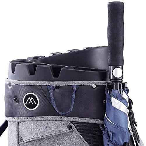 Big Max Aqua Silencio 3 Golf Cartbag 2020-100% wasserdichte Golftasche (Storm/Silver/Navy) - 3