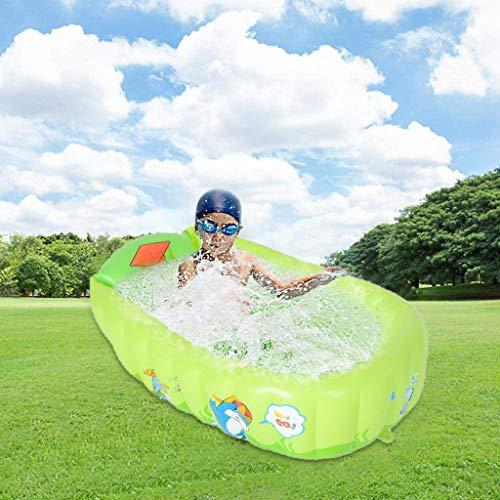 L9WEI Planschbecken Aufbaubar Babypool Kinderpool Aufstellpool, Kinder-Planschbecken Garten Planschbecken Outdoor Kiddie Pool Schwimmpool Aufblasbare Garten Schwimmbad (Grün, 90 * 55 * 30CM)