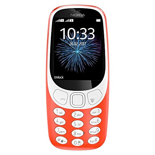 Nokia 3310 3G Unlocked Feature Phone (AT&T/T-Mobile) - 2.4in Screen - Warm...