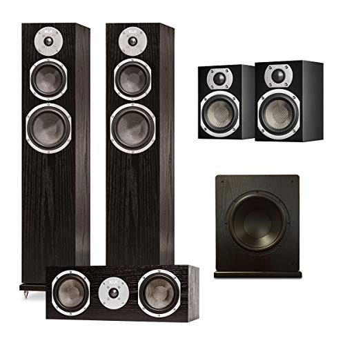 Fantastic Prices! KLH Quincy 5.1 Speaker System with Windsor 10 Subwoofer (Black Oak)