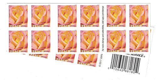 Peace Rose USPS Forever Stamp (2 Booklets (40 Stamps))