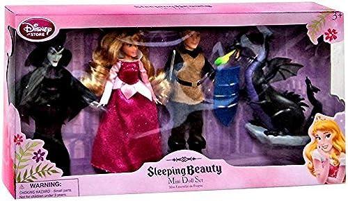 Disney Sleeping Beauty Exclusive Sleeping Beauty Mini Doll Set [Princess Aurora, Prince Phillip, & Maleficent x2] by Disney Sleeping Beauty Toys, Dolls, Action Figures & Plush