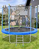 MaxKare 8FT Trampoline for Kids Adults with Safety Enclosure Net, Leisure & Fitness, Capacity 264 lbs, Indoor & Outdoor
