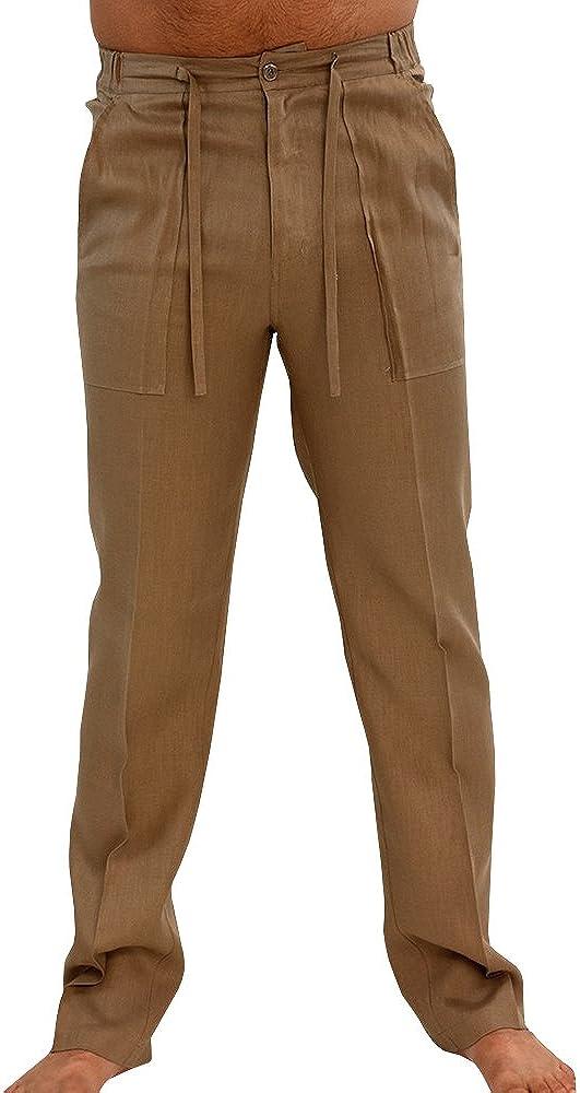 Runcati Limited price Mens Linen Pants Popular popular Beach Waist Elastic Summer Casual Draws