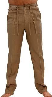 Enjoybuy Mens Linen Pants Drawstring Summer Long Casual Elastic Waist Loose Fit Beach Pants