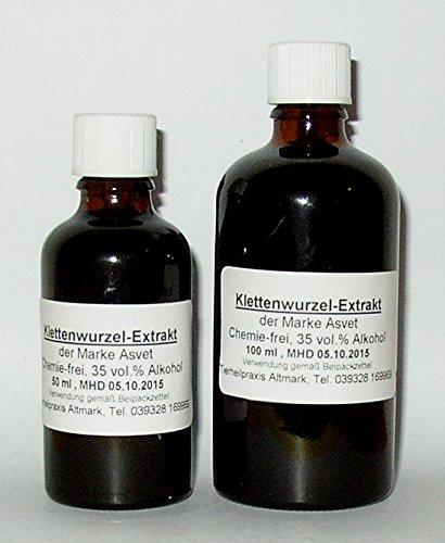 Asvet 50ml Klettenwurzel Extrakt, Tropfen, Große Klette (GP = EUR 35,80/100ml)