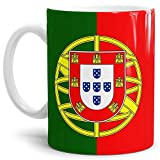 Tassendruck Flaggen-Tasse/Souvenir/Urlaub/Länder-Fahne/Kaffetasse/Mug/Cup - (Portugal, Normal)