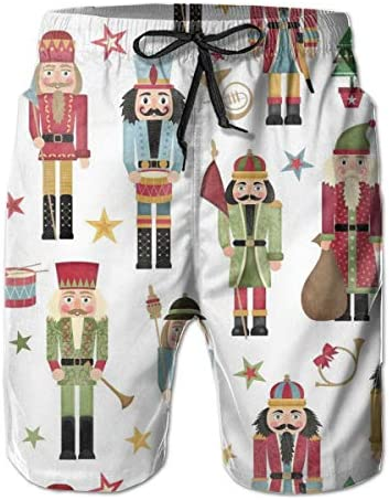 FHRPOLOS Nutcracker Christmas Tree Star Fleece Mens Casual Boardshort Quick Dry Swimming Shorts product image