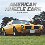 2021 Wall Calendar - American Muscle Cars Calendar, 12 x 12 Inch Monthly View, 16-Month, Automobile Theme, Includes 180 Reminder Stickers