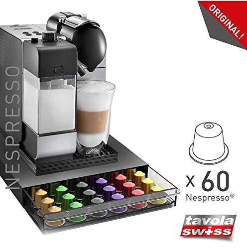 tavolaswiss CASSETTO-60 Kapselspender für 60 Nespresso Kapseln