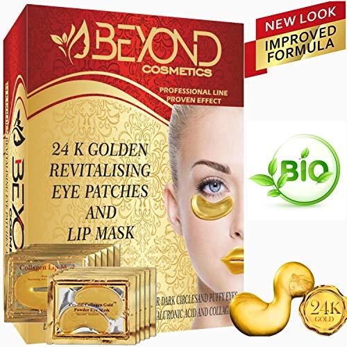Cerotti per occhi e labbra in collagene, trattamento idratante anti-invecchiamento, cerotti sotto gli occhi e borse gonfi, occhiaie scure, occhiaie e