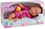 Nenuco - Mi pequeño, muñeca con Biberón Sonajero y Pijama Rosa, (700012087)