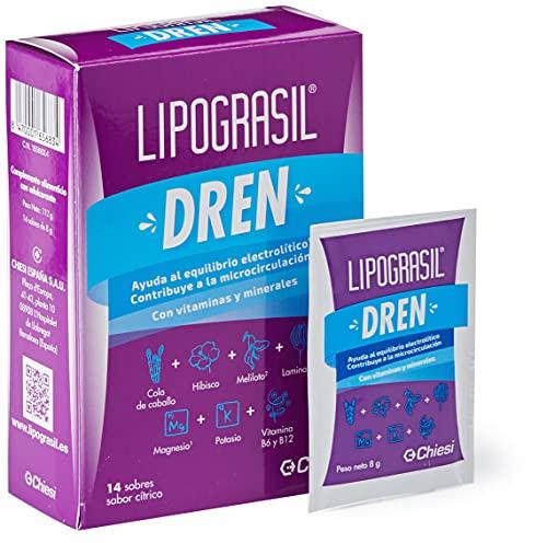 LIPOGRASIL Dren, Ingredientes Origen Natural, Equilibrio Electrolítico, Complemento Alimenticio, Salud y Cuidado Personal