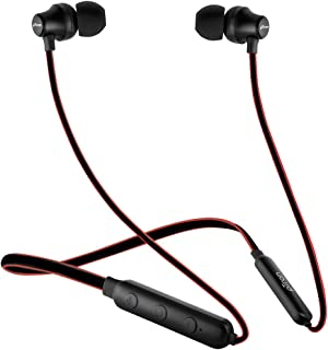 pTron Tangent Lite Magnetic in-Ear Wireless Bluetooth Headphones with Mic - (Black & Red)