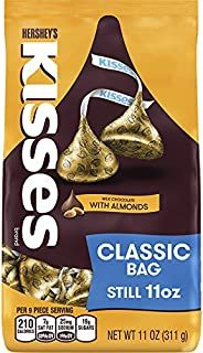HERSHEY'S Kisses, Chocolate Candy with Almonds, 11 Ounce