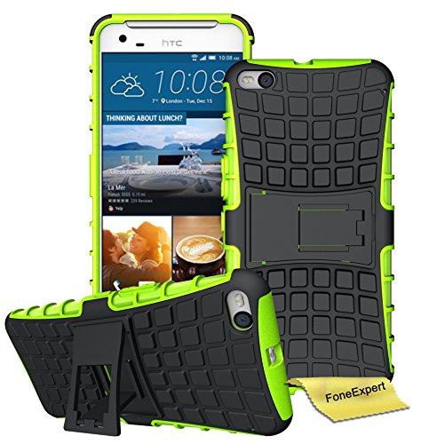 HTC One X9 Handy Tasche, FoneExpert® Hülle Abdeckung Cover schutzhülle Tough Strong Rugged Shock Proof Heavy Duty Case für HTC One X9 + Bildschirmschutzfolie (Grün)