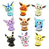 chioture Mimikyu Cosplay Eevee Family Pocket Monsters Plush Dolls Stuffed Plush Toys (9 Styles)