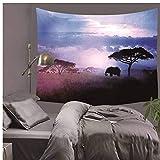DTGBY&ODQ Tapiz de paisaje de bosque Tapices de pared para sala de estar Dormitorio...