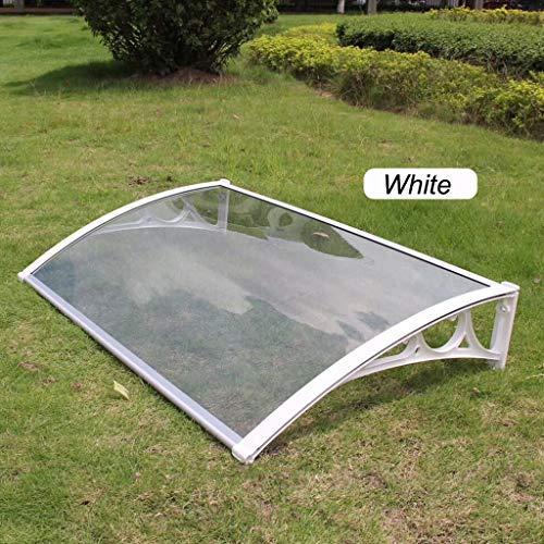 CHAOYANG Türüberdachung Transparent PC-Blatt Außentürfenster Markisen Vordach Terrassenabdeckung REGT Schnee Markise mit Weißer Aluminium-Halterung - 6 Größen (Size : 60×120cm)