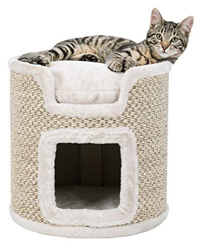 Trixie 44706 Cat Tower Ria, 37 cm, lichtgrau/natur