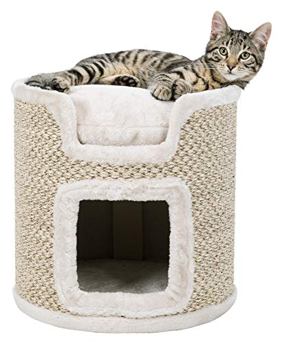 Trixie Tower Ria pour Chat, Gris Clair/Naturel, 37 cm