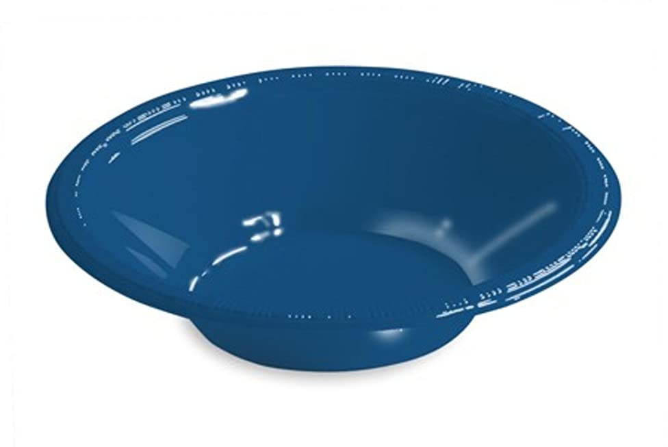 Club Pack of 240 Navy Blue Disposable Plastic Party Snack Bowls 12 oz.