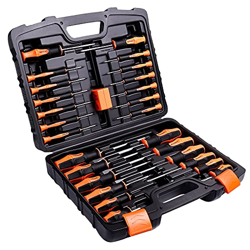 Magnetic Screwdriver Set, 27PCS Professional Screwdriver Set With Case Includes Slotted/Phillips/Torx Precision Screwdrivers For Repairing Home Improvement Craft - TLHSS1A