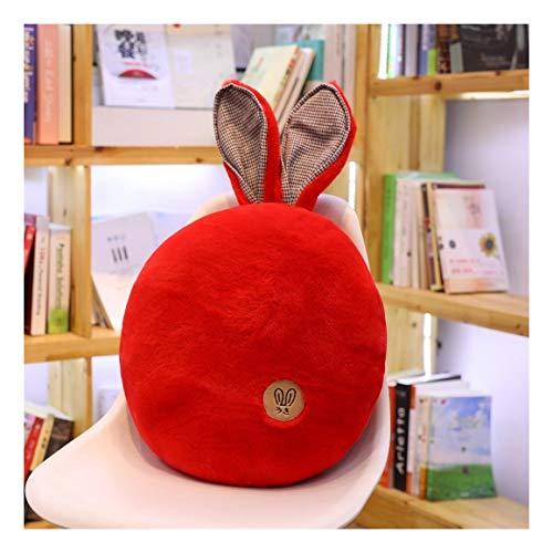 nobrand Kaninchen Big Ear Kissen Nette Persönlichkeit Kissen Sofa Dekoration Kissen Schlafen Gemütliche Plüschtier einfaches bewegliches Stofftier Weiches Kissen (Color : Red, Size : 40cm)