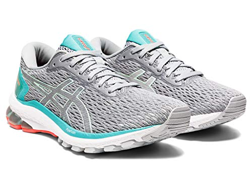 ASICS Women's GT-1000 9 Running Shoes, 9M, Piedmont Grey/BIO Mint