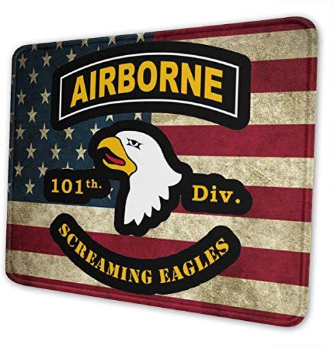 Alfombrilla de ratón para Gaming 101st Airborne Division Antideslizante de Goma para ratón, 7.9 x 9.5 Pulgadas