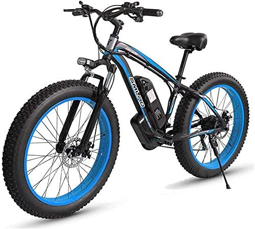 Bicicleta De Montaña Eléctrica De 26 '' con Batería Extraíble De Iones De Litio De Gran Capacidad (48V 17.5Ah 500W) para Ciclismo Al Aire Libre para Hombres, Viajes, Ejercicio Y Desplazamientos (Col
