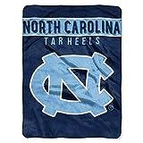 NORTHWEST NCAA North Carolina Tar Heels Raschel Throw Blanket, 60' x 80', Basic