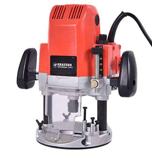 Goplus Electric Plunge Router, 1850-Watts, 3HP, 110V, 30,000-RPM