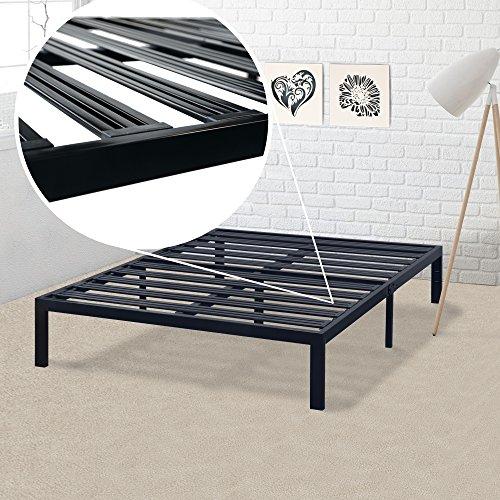 Mellow Rocky Base E 14' Platform Bed Heavy Duty Steel Black, w/ Patented Wide Steel Slats (No Box...