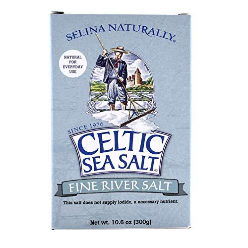 Celtic Sea Salt Fossil River Fine Ground Salt 10.6 Oz (300 G) – Extra Fine Grain, Natural, Gourmet – For Shaker Jar, Salty, 10.6 Oz
