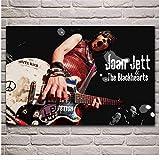 NRRTBWDHL Joan Jett Frauen Musiker Künstler Musik Stoff