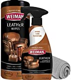 Weiman Leather Cleaner and Conditioner Kit - Non-Toxic Restores Leather Surfaces - Ultra Violet Protectants Help Prevent Cracking or Fading of Leather Furniture, Car Seats, Shoes