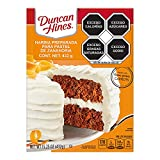 One 15.25 oz box of Duncan Hines Signature perfectly moist carrot cake Mix Made with real carrots for indulgent flavor Use for a layer cake, carrot cake cookies or cake Bites for everyday and special occasion desserts Boxed cake Mix makes a 13 by 9 i...