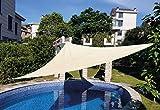 SmartSun Toldo Vela de jardín Anti-UV Repelente al Agua 3,6x3,6x3,6m Crudo