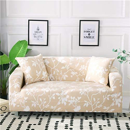 PPMP Housse élastique canapé Extensible en Forme de L Housse de canapé sectionnelle Housse de canapé pour Meubles de Salon fauteuils A15 2 Places