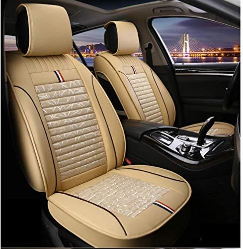 DTTN Fundas para Asiento de Coche Cuero Fundas de Asiento universales Auto Set Audi A3/A4/A5/A6/A8/Q3/Q5/RS4 BMW X2 F39(2018-2023) Fundas de Asiento Accesorios de Coche,Beige