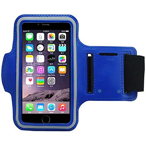 smartacc Sport Jogging Fitness Armband Tasche Passend für iPhone 5, SE, 6, 7, 8, X, Plus, Samsung Galaxy S6, S7, S8, S9, A3, A5, Plus, Edge, UVM. (Dunkelblau)