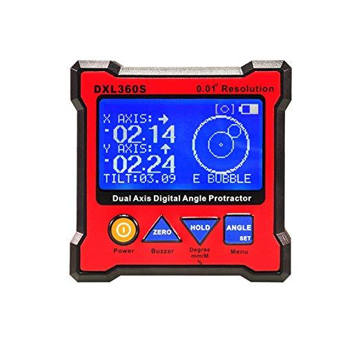 Ashley GAO DXL360S Indicador de nivel digital de doble eje Medidor de ángulo Inclinómetro electrónico Medidor de ángulo Mini nivel Base magnética