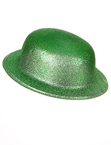 DEGUISE TOI - Chapeau Melon Vert pailleté Adulte Saint Patrick - Taille Unique
