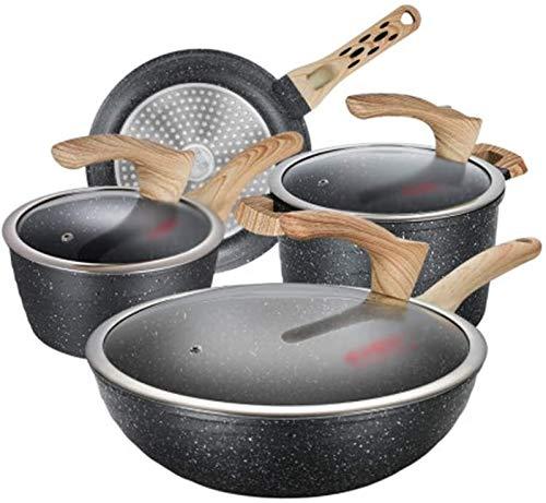 Batería de Cocina Antiadherente Juego de ollas sin pegamento Cocina de cocina de cuatro piezas Cocina de inducción de combinación y utensilios de cocina Utensilios de cocina Conjunto de utensilios de