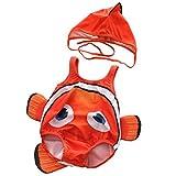 ARAUS Costume da Bagno da Bimbo Infantile Stile Pesce Pagliaccio per Nuotare con Cappuccio...