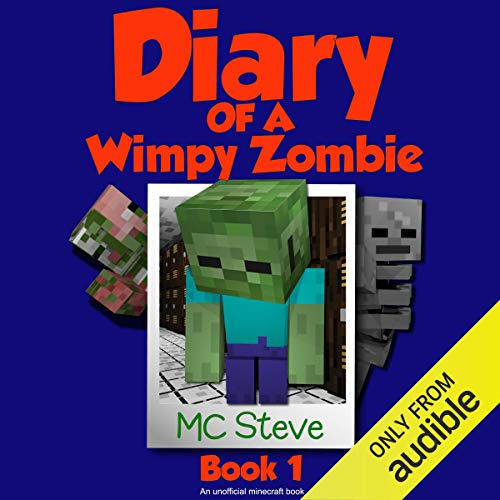 Diary of a Minecraft Wimpy Zombie, Book 1 audiobook cover art
