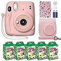 Fujifilm Instax Mini 11 Instant Camera Blush Pink + Custom Case + Fuji Instax Film Value Pack (50 Sheets) Flamingo Designer Photo Album for Fuji instax Mini 11 Photos by FUJIFILM