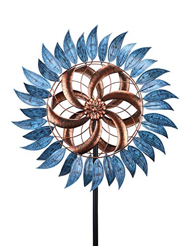 Wind Spinners Outdoor Metal Wind Spinner 6.5 FT Wind Sculptures 360 Degrees for Patio Lawn and Garden